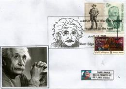 USA. Albert Einstein,Prix Nobel De Physique (1921), Enveloppe Souvenir River Edge , New-Jersey 2005 - Albert Einstein