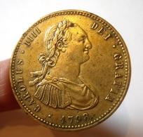 ESPAGNE. MEDALLA / BOTON CARLOS IV. 1798. PARIS. T.W. & W.  SPAIN. - Monarquía/ Nobleza