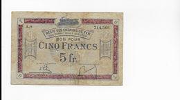 Billet 5 Francs Regie Des Chemins De Fer - Chamber Of Commerce
