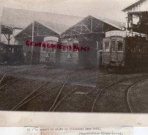 87- LIMOGES-   DEPOT TRAMWAY USINE A VAPEUR DE L' AURENCE 1911-  -CLAUDE LACAN - Places