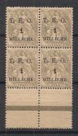 Syrie - 1919 - N°Yv. 11 - Type Blanc 1m Sur 1c - Bloc De 4 - Neuf Luxe ** / MNH / Postfrisch - Syria (1919-1945)