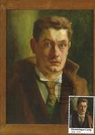 2019  -  DOMINIQUE LANG ( 1874-1919 ) Autoportrait à L'âge De 25 Ans - Huile Sur Bois ( 1899 ) - Cartes Maximum