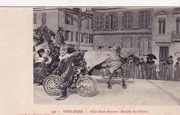 CPA (31) TOULOUSE Allée Saint Etienne Bataille Fleurs Vélo Fleuri Bicyclette 2 Roues Cycliste Cycling Radsport 2 Scans - Toulouse