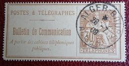 Timbre Postes & Télégraphes - Bulletin De Communication - Alger Bours 1909 - Télégraphes Et Téléphones
