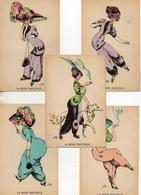 Illustrateur J Fardy, Femme Portant Le Pantalon Mode Nouvelle X 5 (1451) - Autres Illustrateurs
