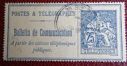 Timbre Postes & Télégraphes - Bulletin De Communication - Alger Bours 1909 - Telegrafi E Telefoni
