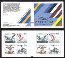 SWEDEN 1992 Birds Of The Baltic Booklet MNH / **,  Michel MH179 - 1981-..