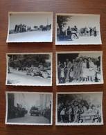 Lot De 6 Photos Du Débarquement Alliés Acclamés Par La Population Sur Leur Route En Août 44 - En Provence? - Guerre, Militaire