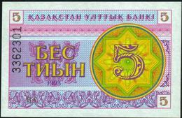 KAZAKHSTAN - 5 Tyin 1993 {Kazakstan Ulttyk Banki} UNC P.3 B - Kazakhstán