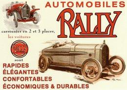 Automobiles Rally  -  Publicité D'epoque   -  Artiste: Géo Ham   - Centenaire Editions Carte Postale - CPM - Voitures De Tourisme