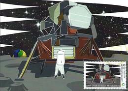 26-28...04 2019  - 1969-2019,50ans Mission Lunaire Habitée Equipage De L'Apollo11:Neil Amstrong,Buzz Aldrin U.Collins - Cartes Maximum