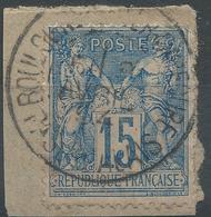 Lot N°49679  N°90/fragment, Oblit Cachet à Date De BOULOGNE-S-MER-CAPECURE, PAS-de-CALAIS - 1876-1898 Sage (Type II)