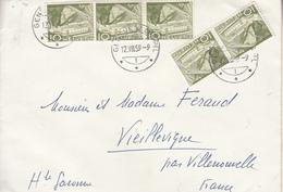 Lettre Suisse De 1959 Vers  Vieillevigne Par Villenouvelle En France - 1921-1960: Modern Period