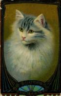 CATS -  ART DRAWN By DAVIDSON BROS C500 - Chats