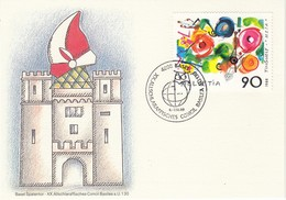 SCHWEIZ 1988 - MiNr: 1380  Sonderkarte Concil Basilea - Schweiz
