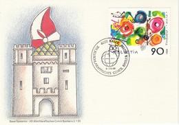 SCHWEIZ 1988 - MiNr: 1380  Sonderkarte Concil Basilea - Briefe U. Dokumente