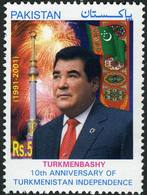 Pakistan 2001 Stamp Independence Of Turkmenistan - Pakistan