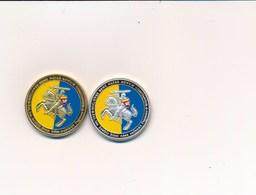 """Lot  De 2  """" Médaille Touristique """" Porte Narbonnaise NARBONNE à CARCASSONNE   ( Recto Verso ) - Touristiques"""