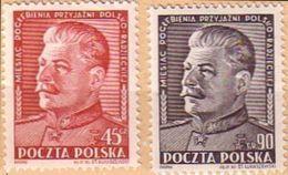 1951 Poland Mi 707 - 708,  J. Stalin, Politician,communism, MNH** - 1944-.... República
