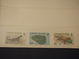 CAYMAN - 1987 RETTILI 3 VALORI - NUOVI(++) - Cayman (Isole)