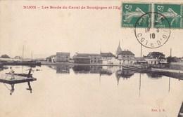 Côte-d'Or - Dijon - Les Bords Du Canal De Bourgogne Et L'église - Dijon