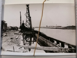 Photo Original 1950, Ostende Constr. Murs Quais Car Ferry - Oostende