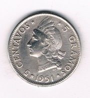 5 CENTAVOS 1951 DOMINICAANSE REPUBLIEK /4892/ - Dominicaine