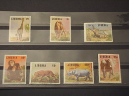 LIBERIA - 1966 ANIMALI 7 VALORI - NUOVI(++) - Liberia