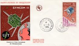 FDC PREMIER JOUR  PA32 UIT Union Internationale Des Télécommunications 17-05-1965 Saint-Pierre Et Miquelon - FDC