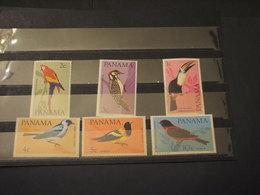 PANAMA - 1965 UCCELLI 6 VALORI - NUOVI(++) - Panama