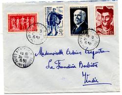 Lettre De Nantes RP (26.10.1950) Pour Barbatre - Marcophilie (Lettres)