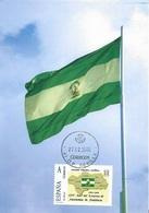 SPAIN. MAXICARD ANDALUCIA FLAG. SEVILLA. TUSELLO - Tarjetas Máxima