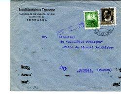1937 Tarifa Impresos Hasta Francia  E385 - 1931-50 Cartas