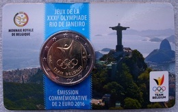 Belgie 2 Euro 2016, Olympische Spelen Rio In Coincard, Fr/nl - Belgique