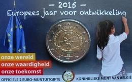 Belgie 2 Euro, Europees Jaar Voor Ontwikkeling NL 2015, UNC In Coincard (développement NL) - Belgique