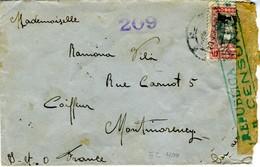 1938  Sobre Franqueo Mixto  OLOT GRONA Hasta Francia  EL400 - 1931-Today: 2nd Rep - ... Juan Carlos I