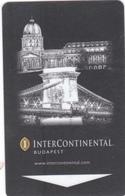 Hungaryan Hotel Key Card. Budapest.Intercontinental  Hotel. - Hotelkarten