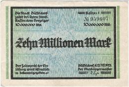 Alemania (NOTGELD) - Germany 10.000.000 Mark 25-8-1923 Dusseldorf DNDI 1150 T Ref 1 - [11] Emisiones Locales