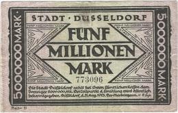 Alemania (NOTGELD) - Germany 5.000.000 Mark 25-8-1923 Dusseldorf Ref 2 - [11] Emisiones Locales