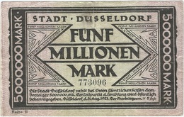 Alemania (NOTGELD) - Germany 5.000.000 Mark 25-8-1923 Dusseldorf Ref 3476-2 - [11] Emisiones Locales