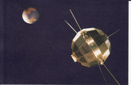 """CPM - Premier Satellite Chinois """" Dong Fang Hong 1"""" - Espace"""
