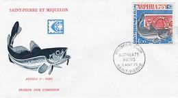 FDC PREMIER JOUR PA60 Arphila75 05-08-1975 Saint-Pierre Et Miquelon - FDC