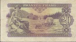 LETZEBURG  -  Zwanzig Frang  A 404573  2 Scans - Luxembourg