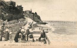 13555338 Villerville_sur_Mer Estacade Et Descente à La Plage Villerville_sur_Mer - Villerville
