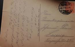 O) 1922 GERMANY, FARMERS - SCT 148 150pf, POSTAL CARD ALTENBERG TO LEIPZIG, XF - Germany