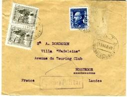 1940 BATA GUINEA  Desde EBEBIYIN Hasta HOSSEGOR EL 445 - 1931-50 Cartas