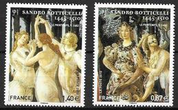 France 2010 N° 4518/4519 Neufs Botticelli Sous Faciale - France