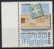 """Italia - Repubblica 2013 """"Giornata Della Filatelia, Filatelia Tradizionale E Storia Postale €. 0,70"""", Nuovo - 6. 1946-.. Repubblica"""