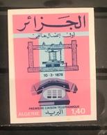 Algeria/Algerie Imperforated Centenaire De La Premiere Liaison Telephonique YT639 Non Dentelé En Neuf**/MNH - Algeria (1962-...)