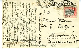 1930 TARJETA  SANTA ISABEL FERNANDO POO   Hasta Minden EL 456 - 1931-Hoy: 2ª República - ... Juan Carlos I